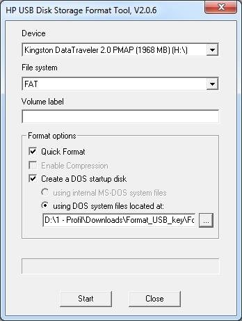 Création d'une clé USB bootable