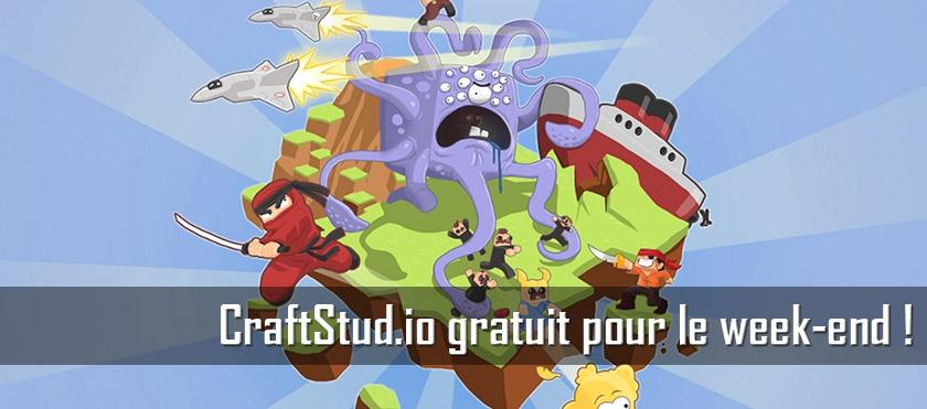Craftstud.io gratuit pour le week end !