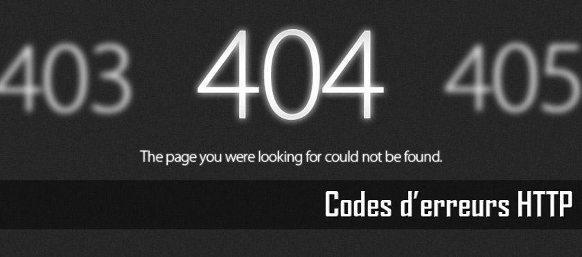 Codes d'erreur HTTP
