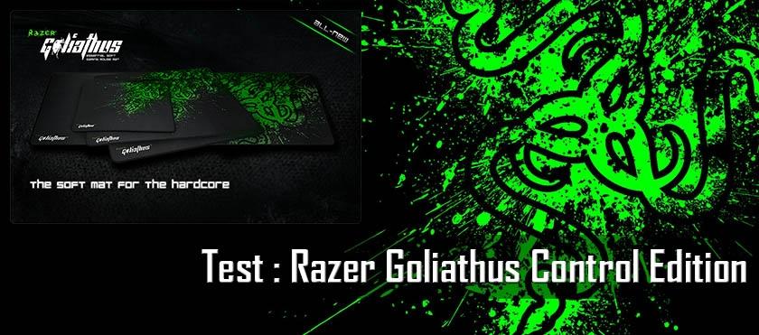 Test : Razer Goliathus Control Edition