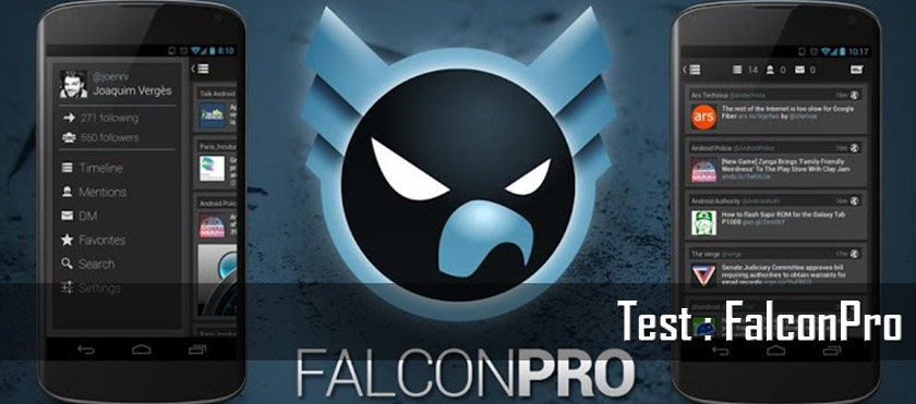 Test : FalconPro, client Twitter