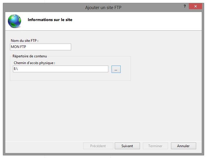 Créer site FTP