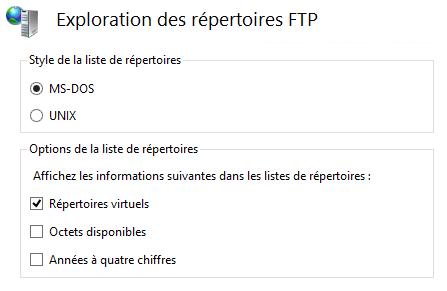 Exploration des répertoires FTP