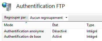 Authentification FTP