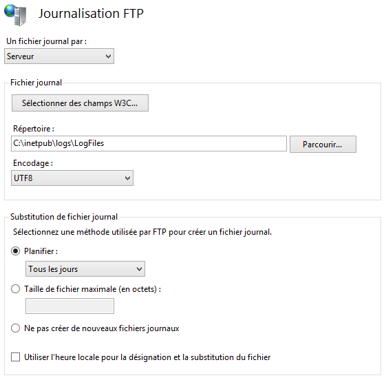 Journalisation FTP