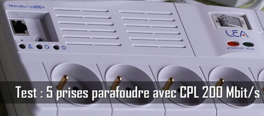 Test : Bloc parafoudre 5 prises avec module CPL 200 Mbit/s intégré