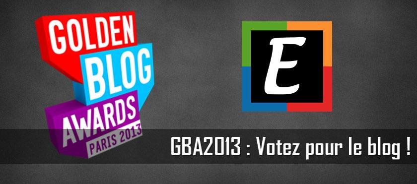 GBA2013 : Votez pour le blog !