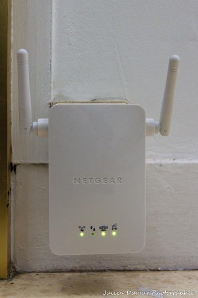 Le répéteur wifi NetGear WN3000RP à l'oeuvre