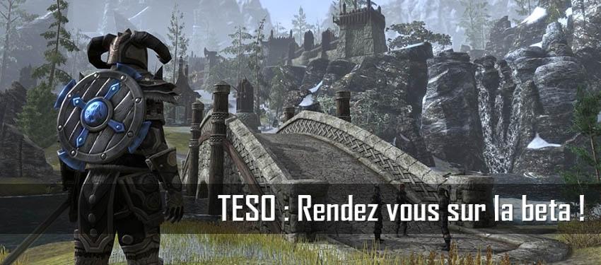 TESO : Rendez vous sur la BETA !