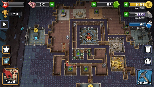 Dungeon Keeper sur Android et iOS