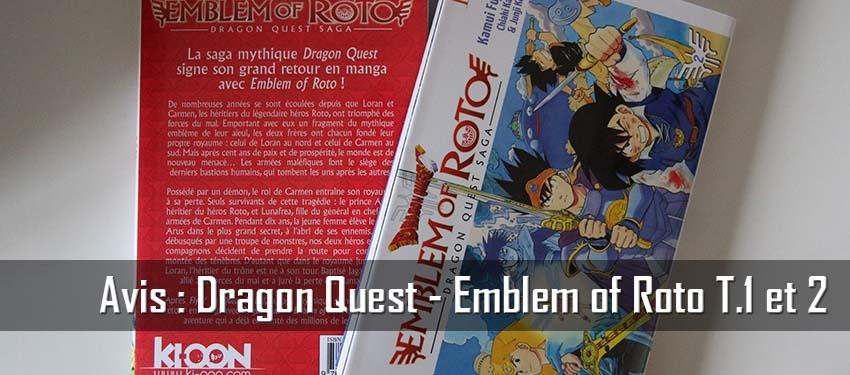 Avis : Dragon Quest – Emblem of Roto T.1 et 2