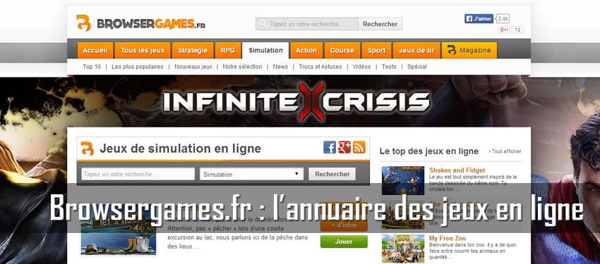 Browergames.fr : l'annuaire des jeux en ligne