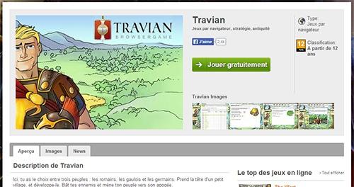 Travian, le jeu de stratégie par navigateur