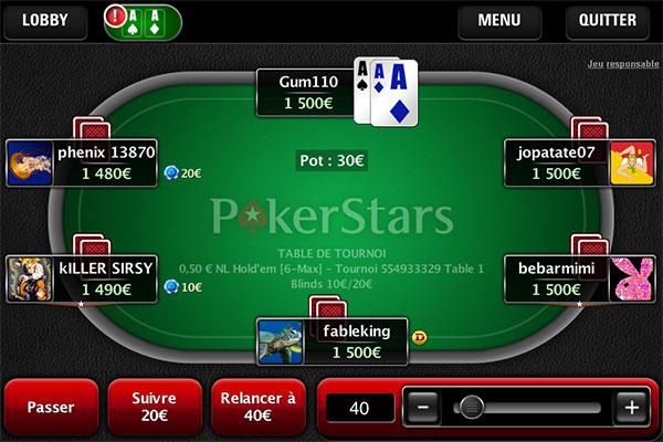 Pokerstars : test de l'application mobile