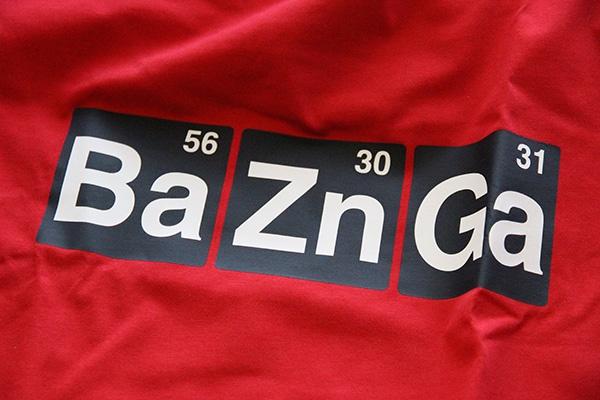 Tee Shirt Spreadshirt Bazinga from The Big Bang Theory