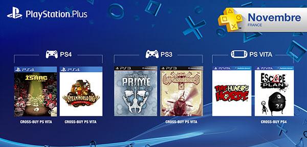 PS Plus : les jeux offerts de Novembre