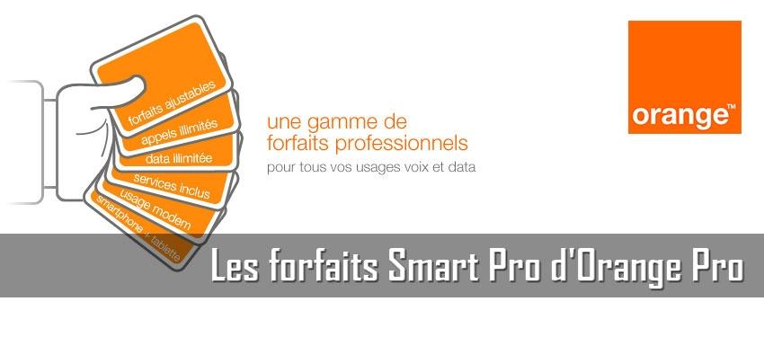 Les forfaits Smart Pro d'Orange Pro