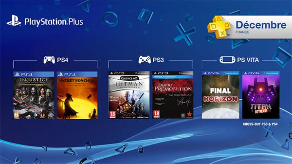 Les jeux offerts du PS Plus en décembre !