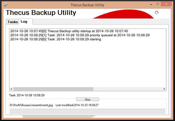 Thecus N2310 : Thecus Backup Utility