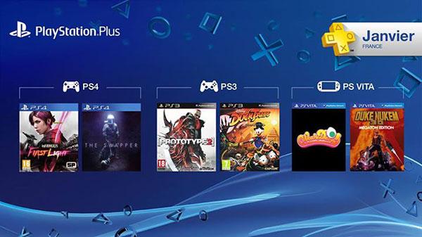 PS+ : Jeux offerts de Janvier !