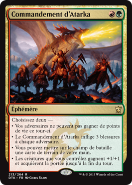 Dragons de Tarkir : Commandement d'Atarka