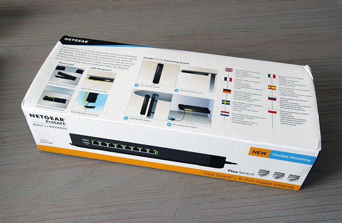 Netgear Click Switch GSS108E : emballage