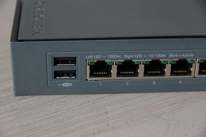 Netgear Click Switch GSS108E : 8 ports gigabit et 2 USB