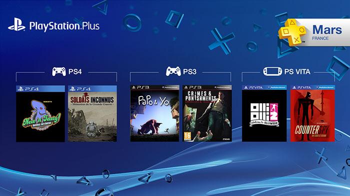 PS+ : les jeux offerts de mars 2015