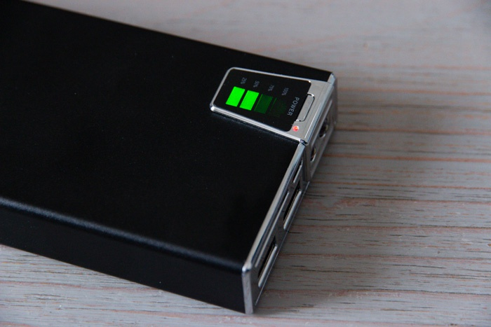 Batterie externe Olixar : la jauge de charge