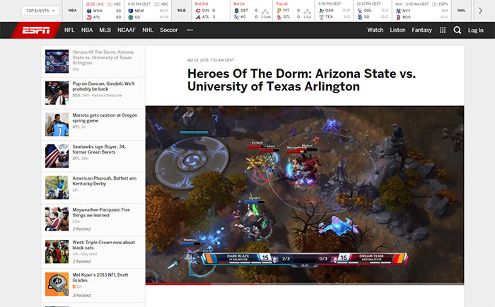 Heroes of the Storm sur ESPN !!!