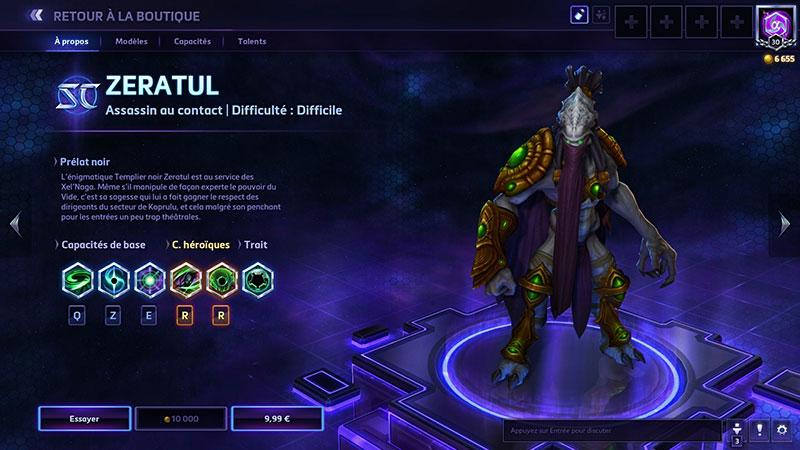 Heroes of the Storm : Zeratul, un des héros à 10000po