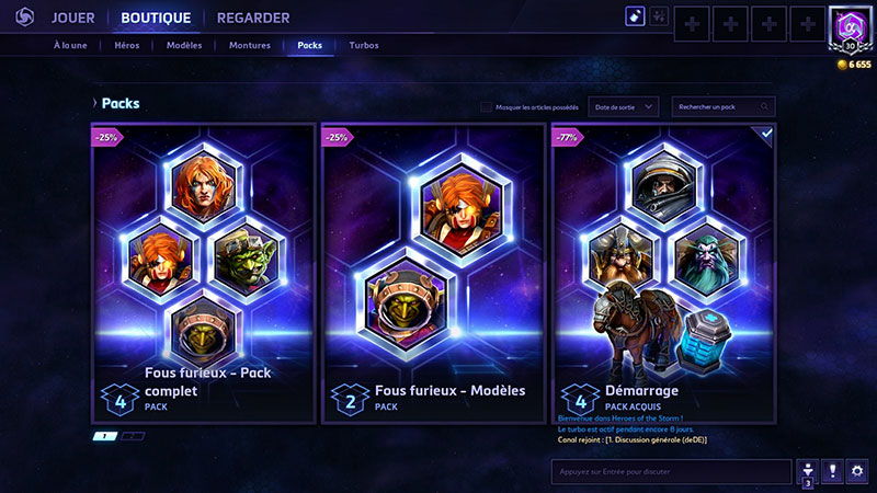 Heroes of the Storm : des packs rentables