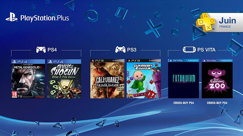 Offre Playstation Plus du mois de Juin 2015