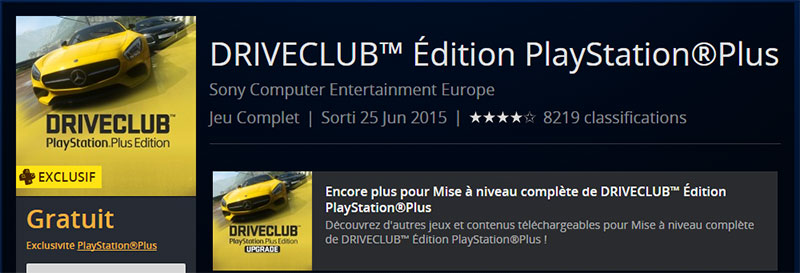 Drive Club PS Plus Edition
