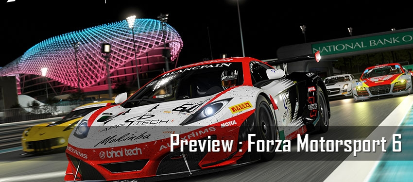 Preview : Motorsport Forza 6
