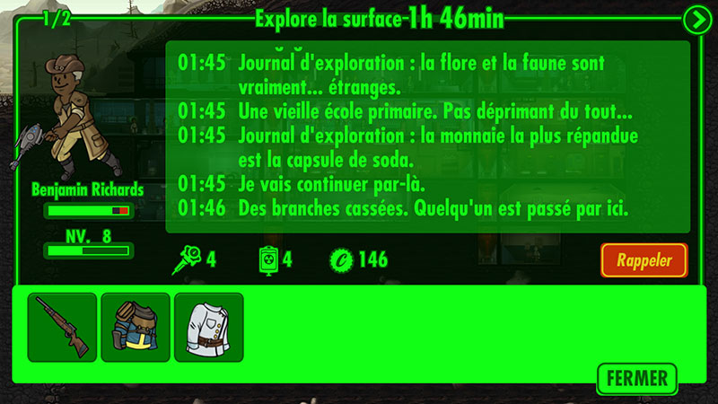 Fallout Shelter : l'exploration
