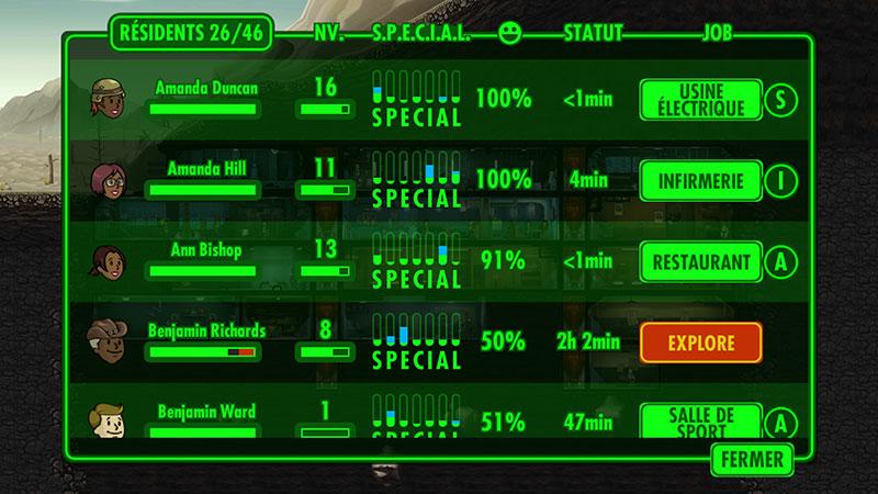 Fallout Shelter : le S.P.E.C.I.A.L.