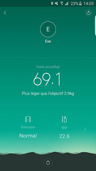 Balance Mi Smart Scale : vos stats