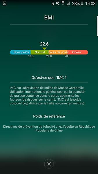 Balance Mi Smart Scale : IMC