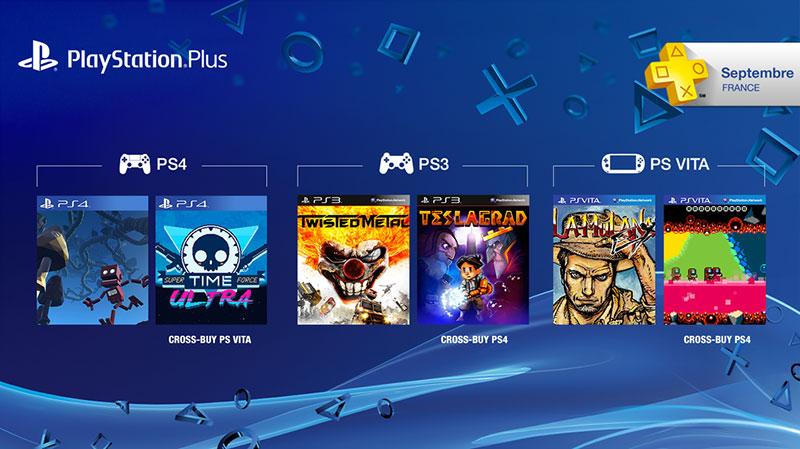 PS Plus : les jeux offerts de septembre