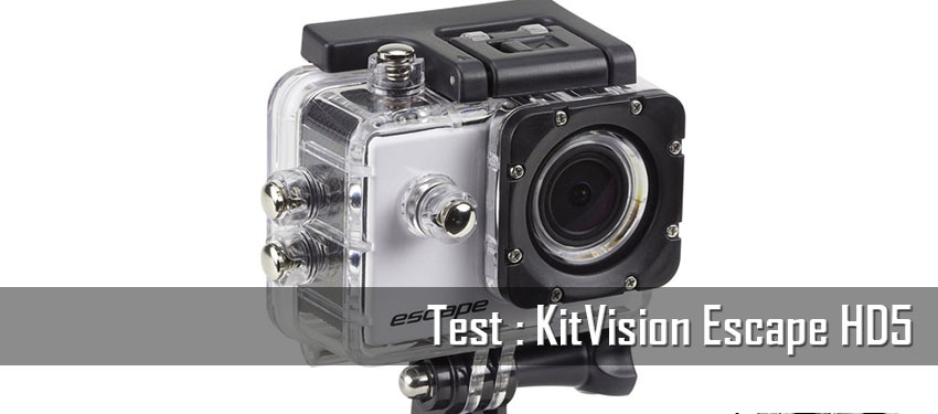 Test : caméra sportive KitVision Escape HD5