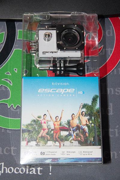 Escape HD5 : un package similaire à celui de la GoPro