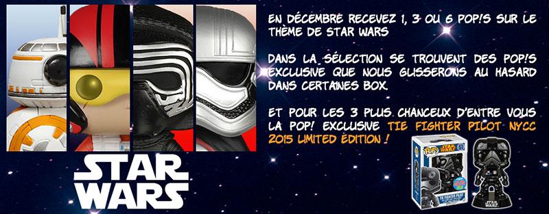 La MyPopBox de décembre est placée sous le signe de Star Wars !!!