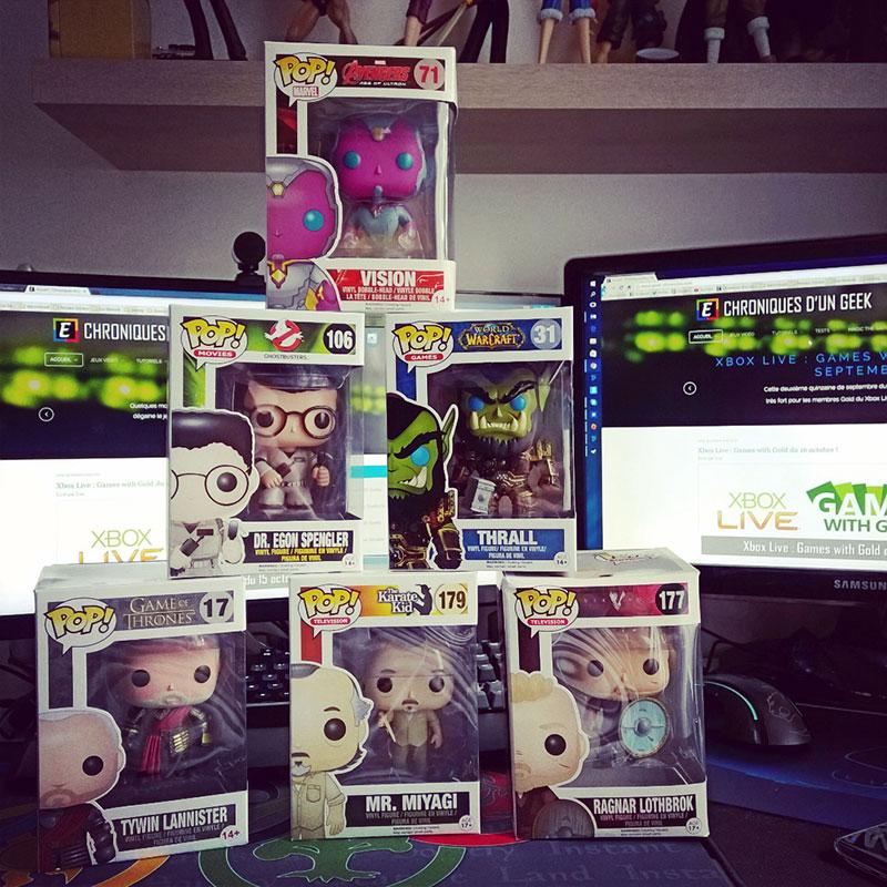 Les 6 figurines Funko Pop reçues dans la MyPopBox d'octobre !