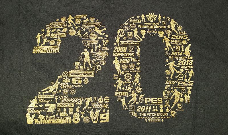 PES 2016 : Tee shirt collector 20 ans !