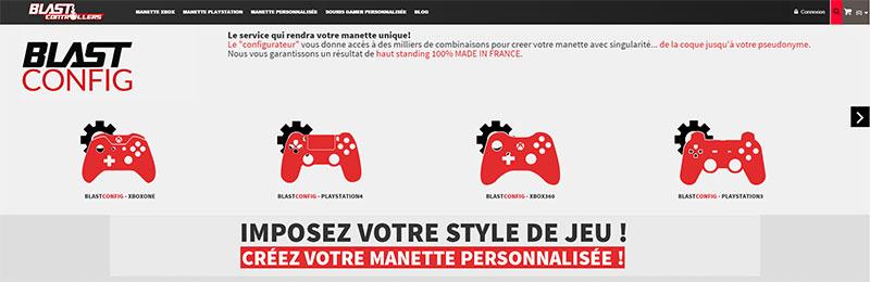 Blast Controllers : entreprise française spécialisée dans la réalisation de manettes custom