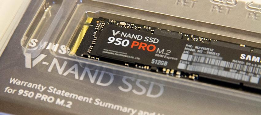 Test : SSD Samsung 950 Pro M.2 512Go