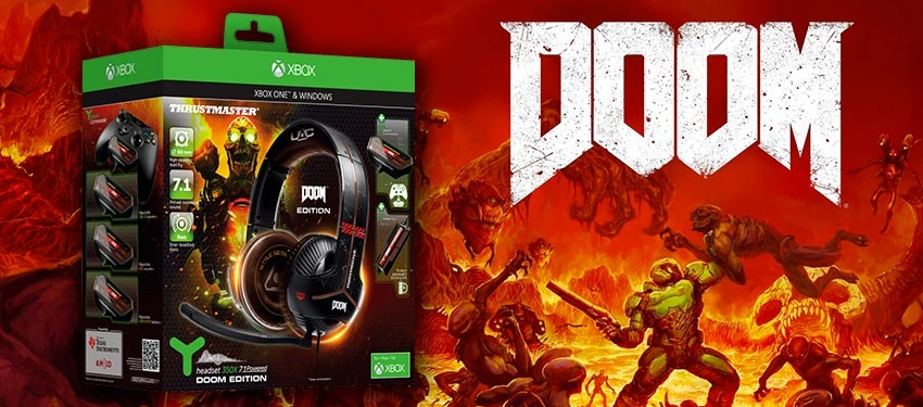 Test : casque Thrustmaster Y-350X 7.1 Powered DOOM Edition