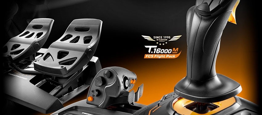 Test : joystick Thrustmaster T.16000M FCS Flight Pack