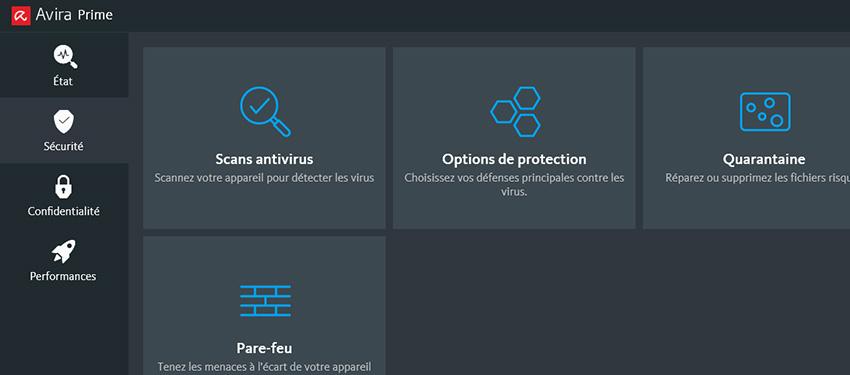 Test : antivirus Avira Prime